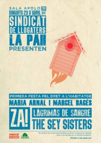 1st Housing Party: Maria Arnal i Marcel Bagés + The Sey Sisters + Lágrimas de Sangre + Za!