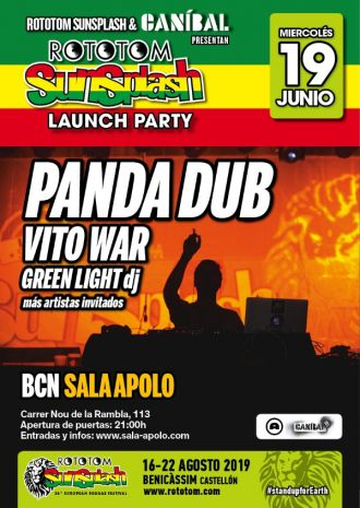 Launch Party Rototom: Panda Dub + Alex Serra