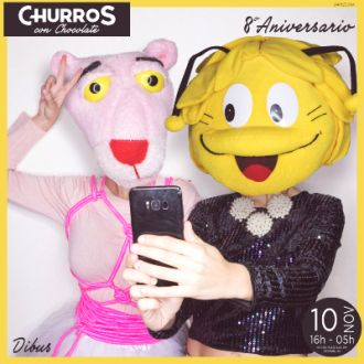8º Anniversary of Churros con Chocolate | Cartoons of the 80s